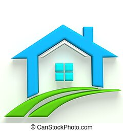 Real Estate 3D logo House