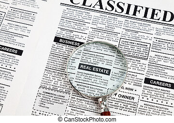Real Estate Ad - Fake Classified Ad, newspaper, real estate ...