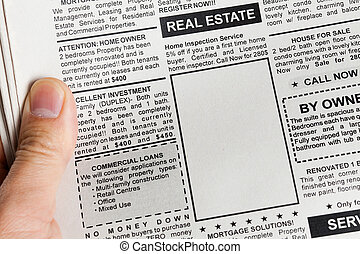 Real Estate Ad - Fake Classified Ad, newspaper, Real Estate...