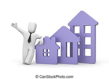 Real estate agency - business illustration