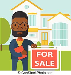 Real estate agent. - An african-american real estate agent ...