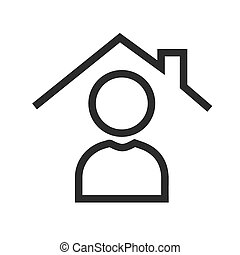 Real Estate Agent - Call, agent, meeting icon vector image. ...