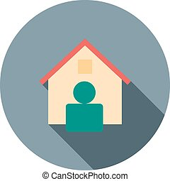 Real Estate Agent - Estate, agent, house icon vector image. ...