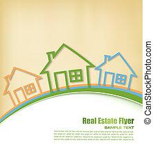 Real Estate Agent Flyer. Vector illustration