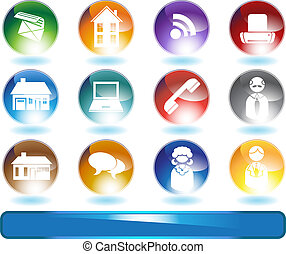 Real Estate Agent Icon Set - Group of real estate agent ...