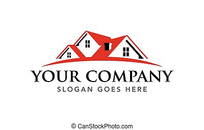 Real Estate Agent Realtor Roofing House Vector Logo Template