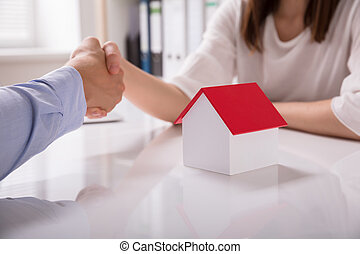 Real Estate Agent Shaking Hand With His Client