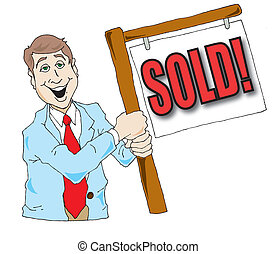 Real Estate Agent - Vector image of a real estate agent ...