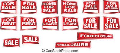 Real Estate and Business Vector Signs