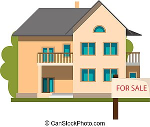 Real estate and Home for Sale concept.