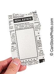 real estate, anzeige