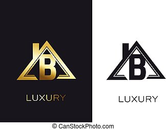 Real Estate B Initial house Logo for Business