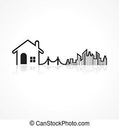 Real Estate background for sale