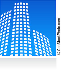 Vector real estate pattern with blue background
