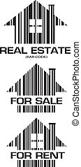 Real Estate barcode houses