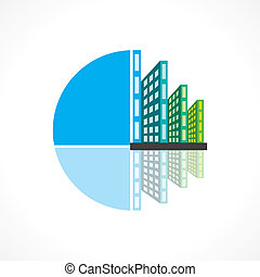 real estate building icon vector