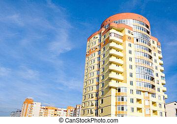 building on blue sky