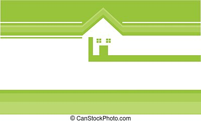 Real Estate Business Card with Logo