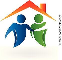Real estate business collaboration icon