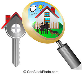 real estate business concept with