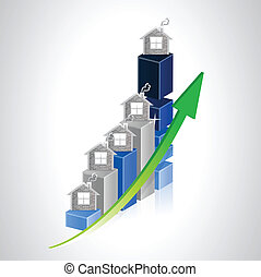 real estate business graph illustration