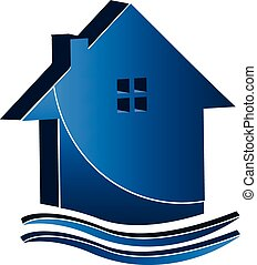 Real estate business house logo