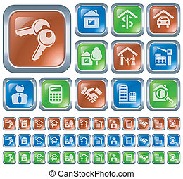 Real estate buttons