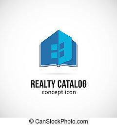 Real Estate Catalog Concept Symbol Icon or Logo Template...