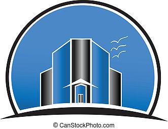 Real estate city buildings logo