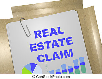 Real Estate Claim - business concept