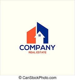 REAL ESTATE company logo concept