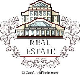 Real estate company logo template.