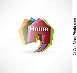 Real estate concept design element speech bubble