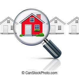 Real-estate concept - illustration of real-estate concept...