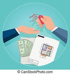 Real Estate Concept Illustration in Flat Design.