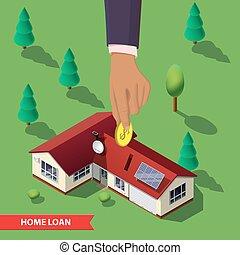 Real estate concept illustration.