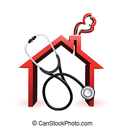 real estate concept with a Stethoscope