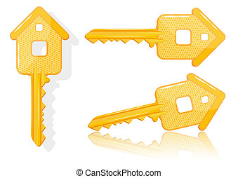 Real estate concept with house key - vector - Real estate...