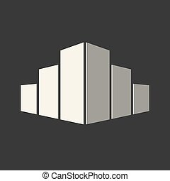 Real estate conceptual logo icon