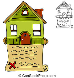 Real Estate Contract - An image of a signed real estate...