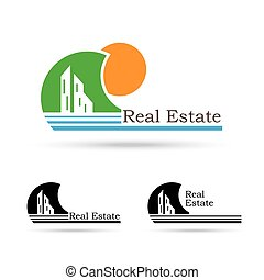 Real estate creative vector logo design template