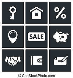 Real Estate Deal icon collection