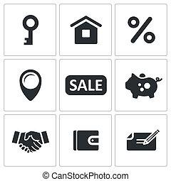 Real Estate Deal icon set