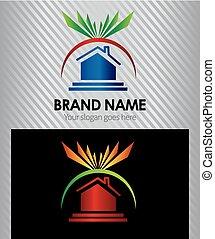 Real estate design elements logo