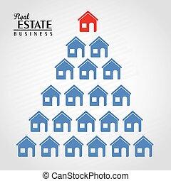 real estate design over gray background vector illustration