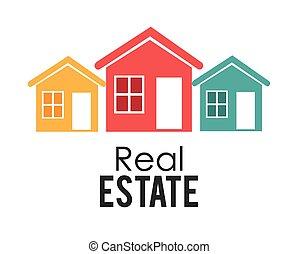 Real estate design, vector illustration.