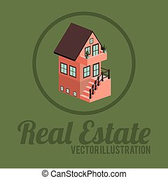 Real estate design, vector illustration.
