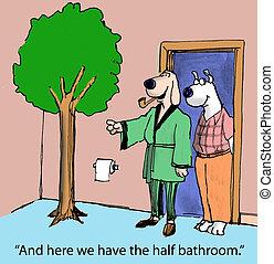 "Real Estate - ""And here we have the half bathroom."""