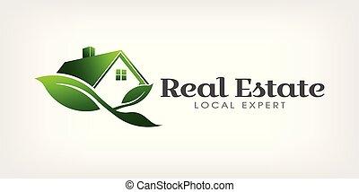 Real Estate Eco house Logo