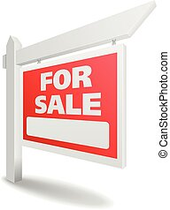Real Estate For Sale - detailed illustration of a blank...
